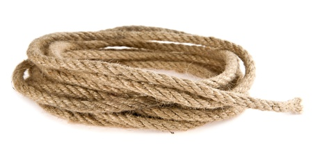 rope isolated a white background Stock Photo - 16474528