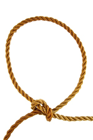 rope on a white background