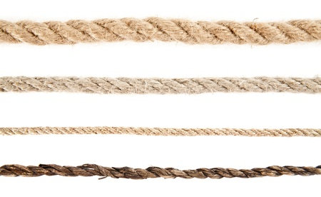 rope on a white background Stock Photo - 16474537