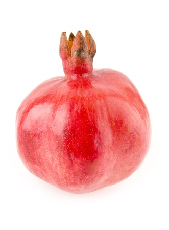 peal: pomegranate on a white background