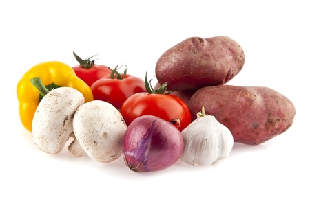 bolter: vegetables on a white background Stock Photo