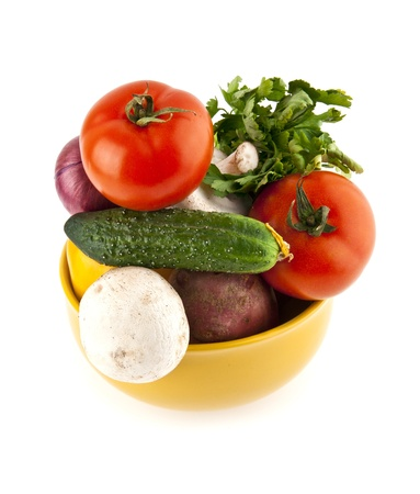 vegetables on a white background Stock Photo - 16474187
