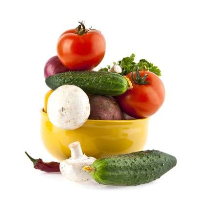 vegetables on a white background Stock Photo - 16474026