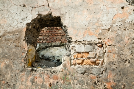 blasted old wall as background Stock Photo - 16474976