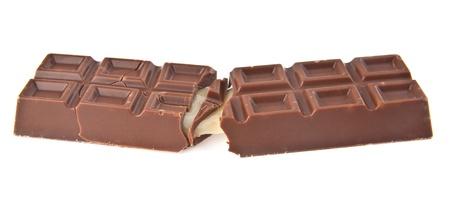 cikolata: chocolate on a white background
