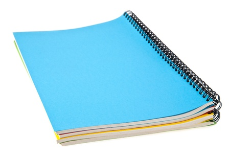 notebooks on a white background photo
