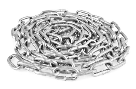 fetter: chain on a white background