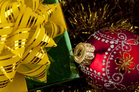 Christmas decoration at the abstract background photo