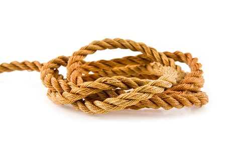 rope on a white background Stock Photo - 17517340