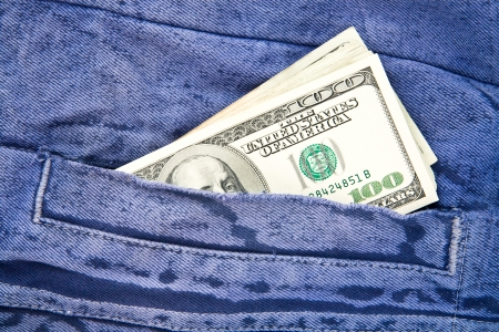 money in the pockets of his jacket Stock Photo - 17518010