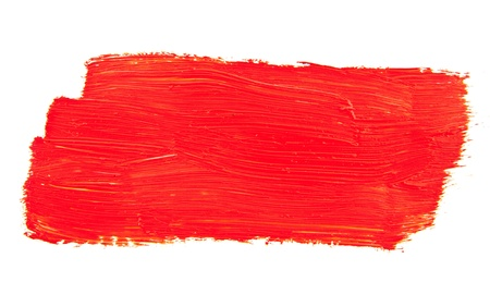 red paint on a white background Stock Photo - 17517931