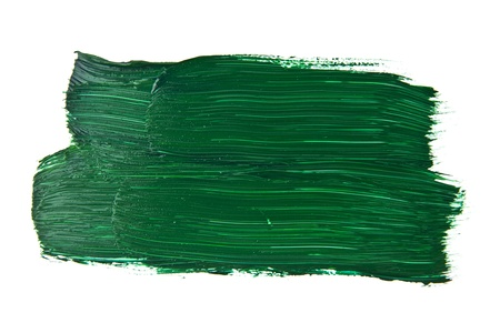 the green paint on a white background photo