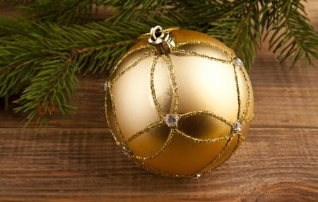 Christmas decoration  on the wooden background photo