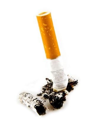 cigarette on a white background Stock Photo