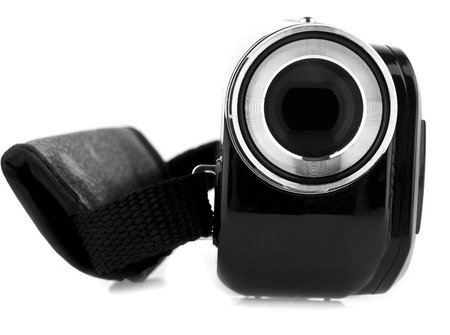 video camera on a white background photo