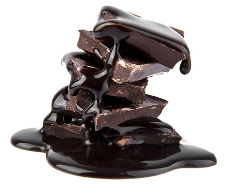 chocolate on a white background photo