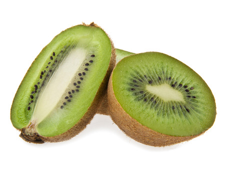 kiwis are isolated on a white background photo