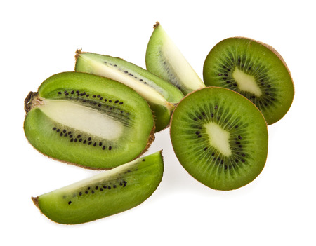 kiwi on a white background photo