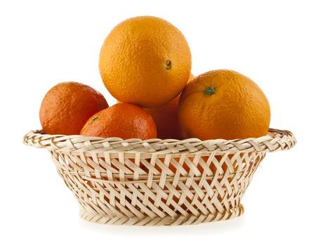 oranges on a white background photo