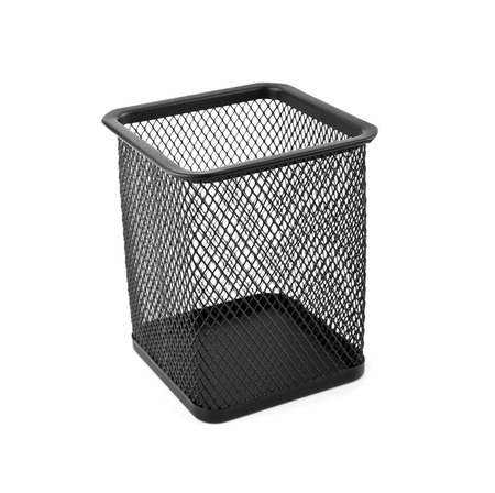 black basket on a white background photo