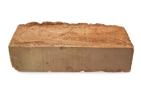 brick on a white background photo