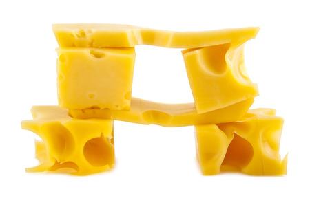 cheese on white background photo