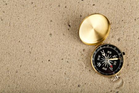 compass on sand Stock Photo - 25806024