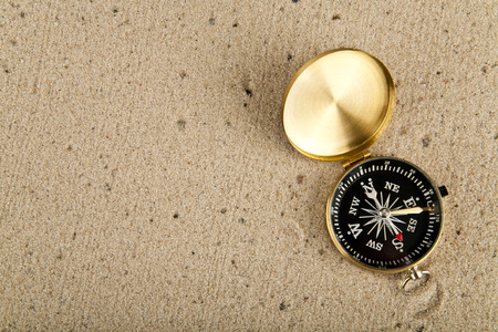 compass on sand Stock Photo - 25806024