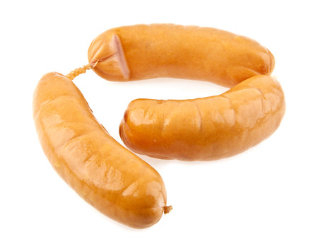 educaton: sausages on a white background