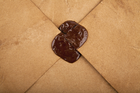 seal from sealing wax on an old letter photo