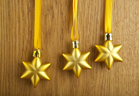 stars on a wooden background photo