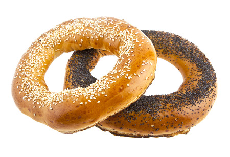 bublik: bagels on a white background