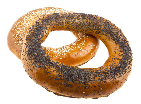 bagels on a white background photo