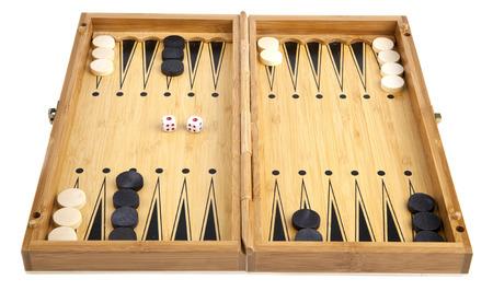 backgammon on a white background Stock Photo