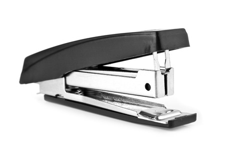 puncher: stapler on a white background Stock Photo