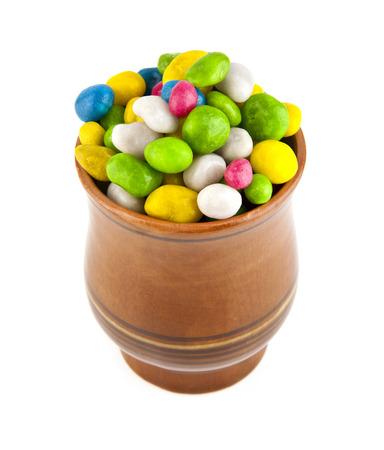 glazed candies on a white background photo