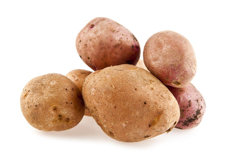 potato on a white background photo