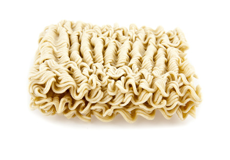 instant noodles on a white background photo