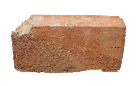 pitting: brick on a white background Stock Photo