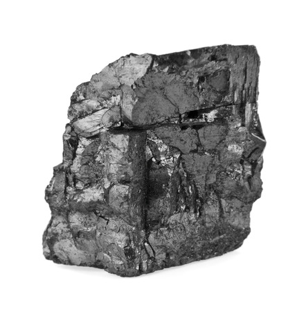 coal on a white background Stock Photo
