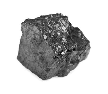 anthracite coal: coal on a white background Stock Photo