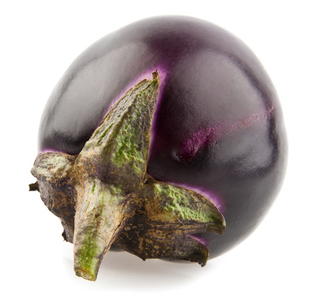 eggplant on a white background. picture from series.