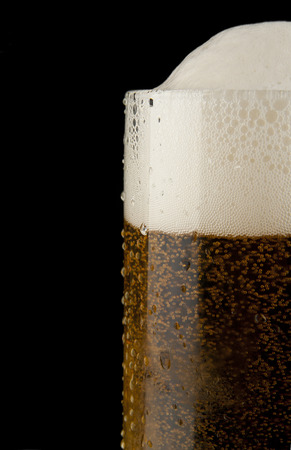 glass beer on a black background