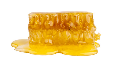 honey on a white background