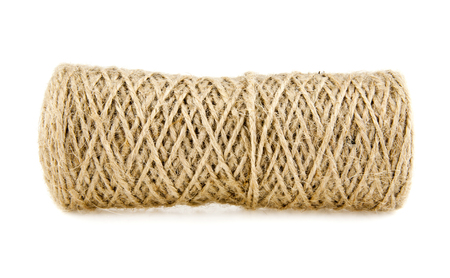 hank: hank of rope on a white background Stock Photo