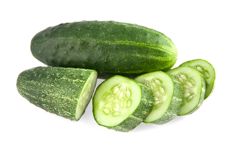 cucumbers: cucumbers on a white background