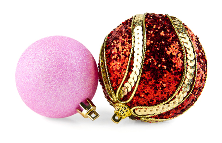 newyear: new-year ball for a decoration on a white background