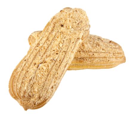creampuff: profiteroles on a white background
