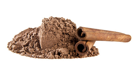cinnimon: cinnamon on a white background