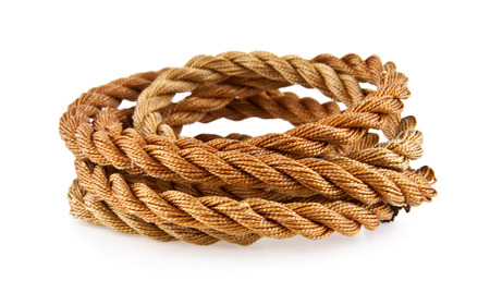 slipped: rope on a white background